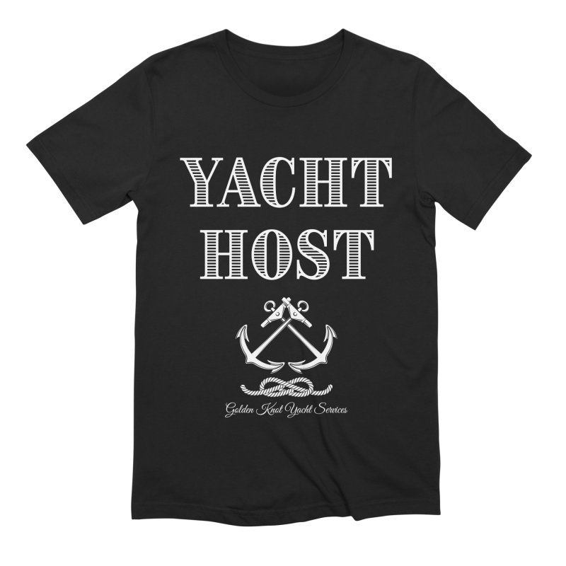 Yacht Host Men's T-Shirt by Golden Knot Yacht Services Swag