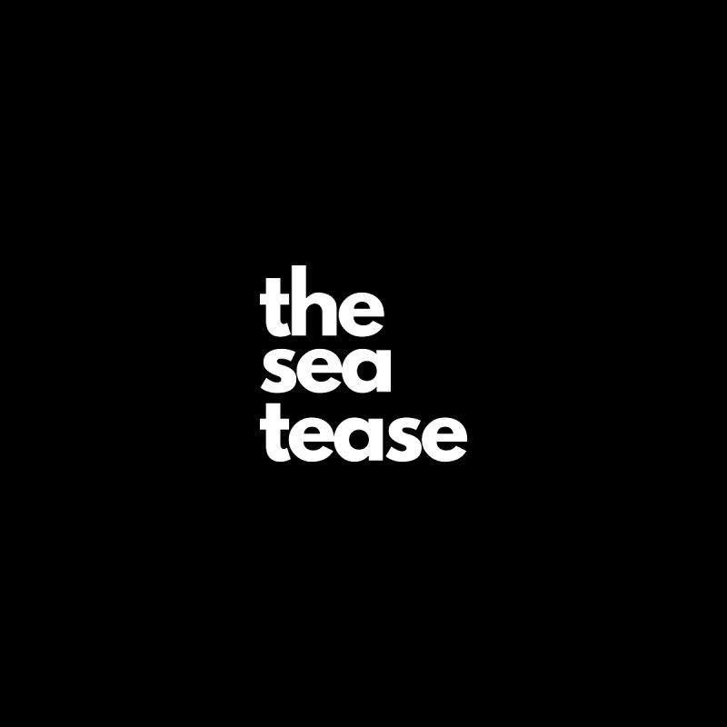 The Sea Tease T-shirt (White Writing) Men's T-Shirt by Golden Poppy Official Merch