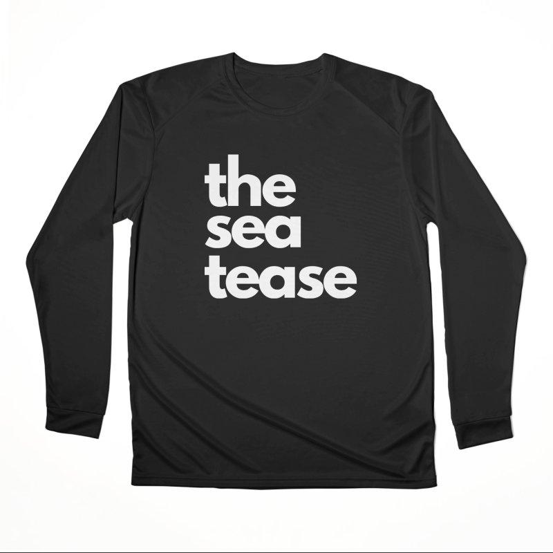 The Sea Tease T-shirt (White Writing) Women's Longsleeve T-Shirt by Golden Poppy Official Merch