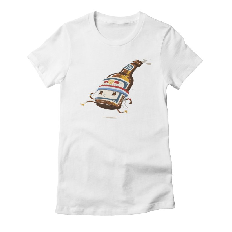 BEER RUN Women's Fitted T-Shirt by Goliath72