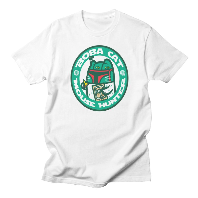 Boba Cat Men's T-shirt by Goliath72