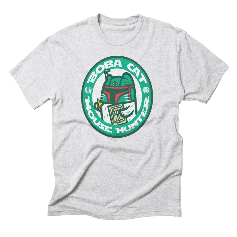 Boba Cat Men's Triblend T-Shirt by Goliath72