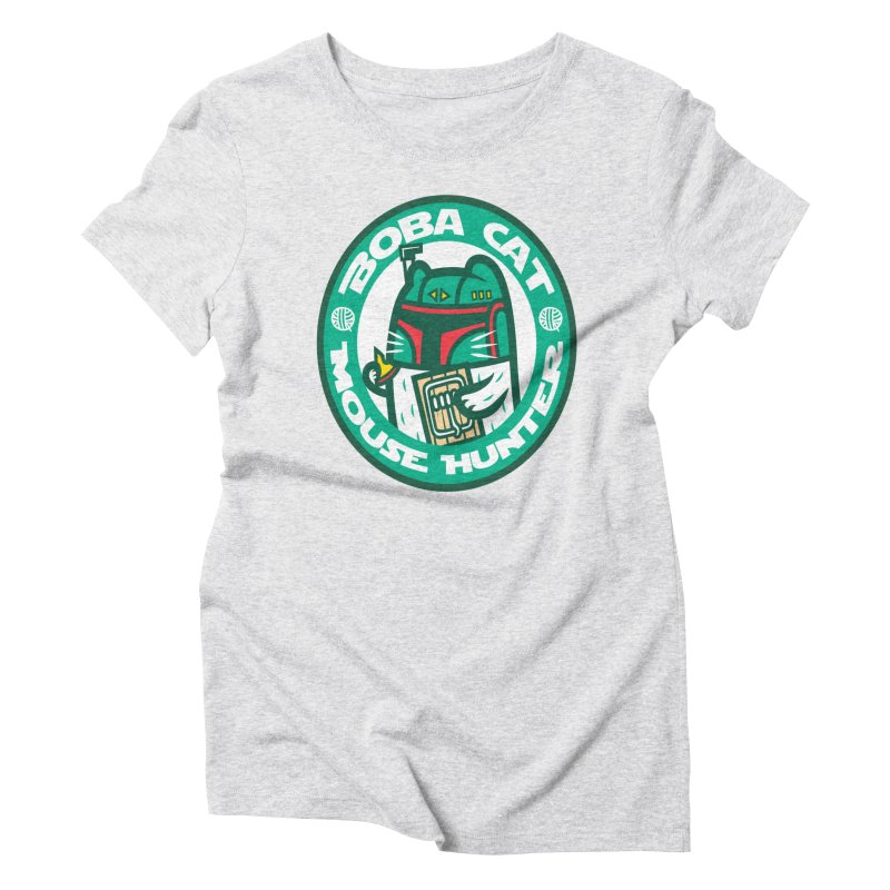 Boba Cat Women's Triblend T-shirt by Goliath72