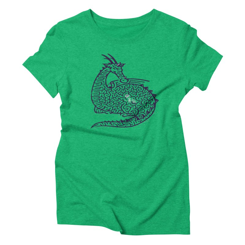 DRAGON LABYRINTH Women's Triblend T-shirt by Goliath72
