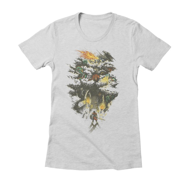 The Road Less Traveled Women's Fitted T-Shirt by Goliath72