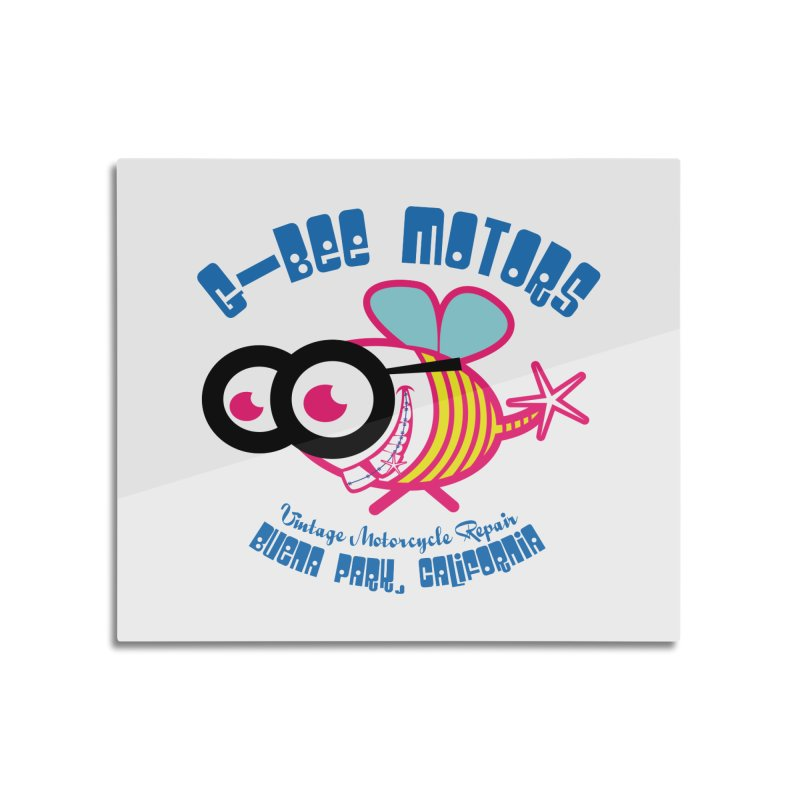 Bee Home Mounted Aluminum Print by GomezBueno's Artist Shop