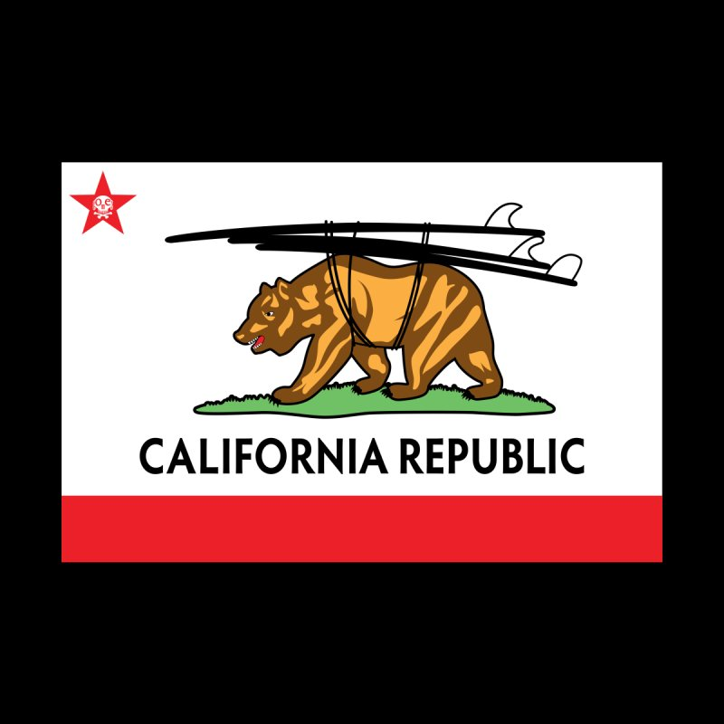 Ca Flag Home Mounted Aluminum Print by GomezBueno's Artist Shop