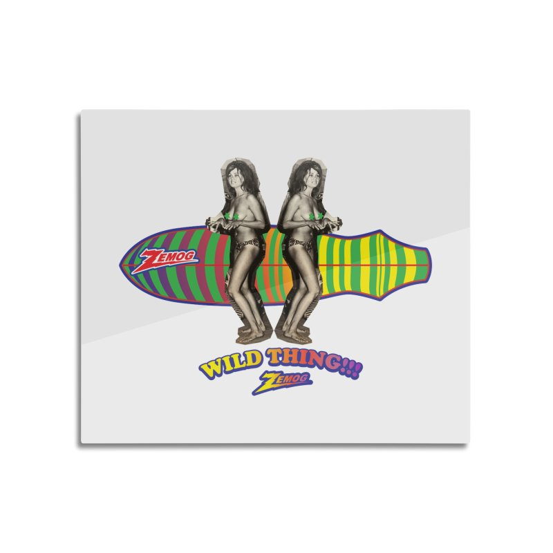 Wild Thing 2 Home Mounted Aluminum Print by GomezBueno's Artist Shop