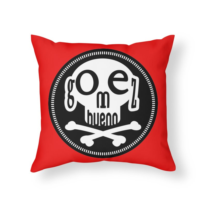Skull B/W Home Throw Pillow by GomezBueno's Artist Shop