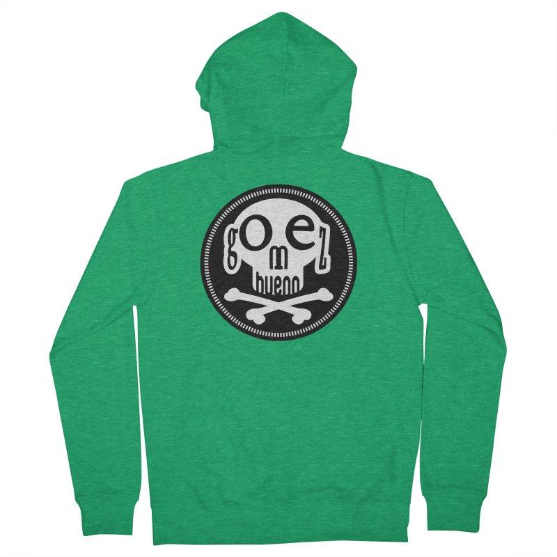 Skull B/W Men's Zip-Up Hoody by GomezBueno's Artist Shop
