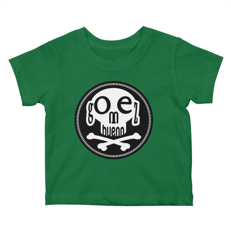 Skull B/W Kids Baby T-Shirt by GomezBueno's Artist Shop