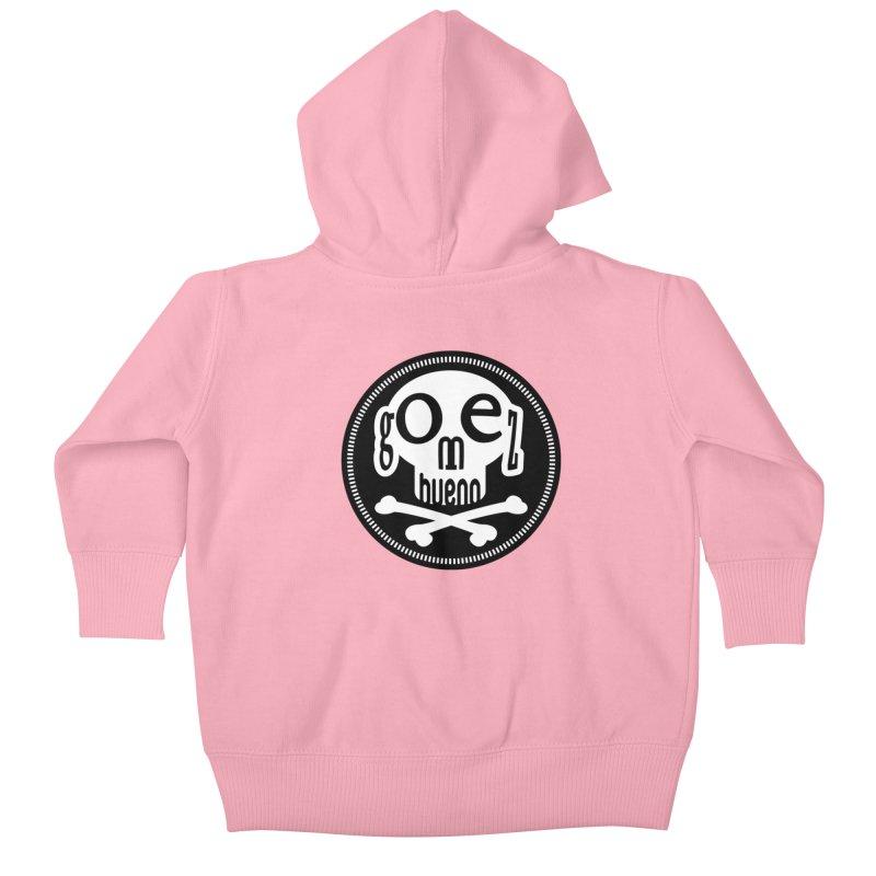 Skull B/W Kids Baby Zip-Up Hoody by GomezBueno's Artist Shop