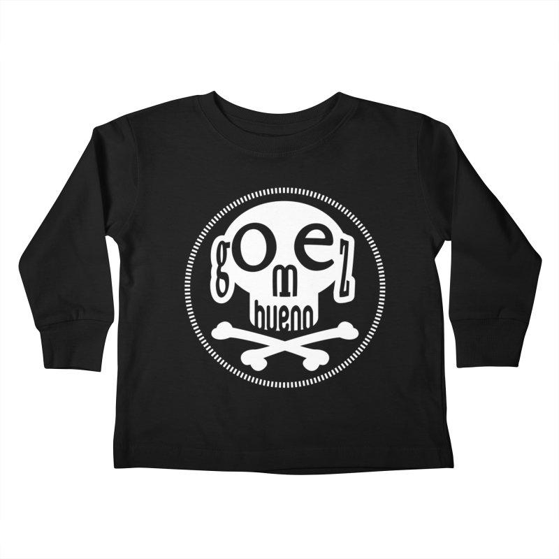 Skull B/W Kids Toddler Longsleeve T-Shirt by GomezBueno's Artist Shop