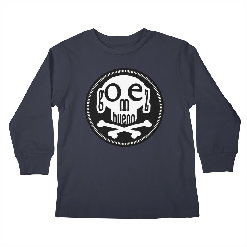 Skull B/W Kids Longsleeve T-Shirt by GomezBueno's Artist Shop