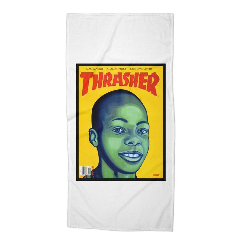 Thrasher Cover Accessories Beach Towel by GomezBueno's Artist Shop