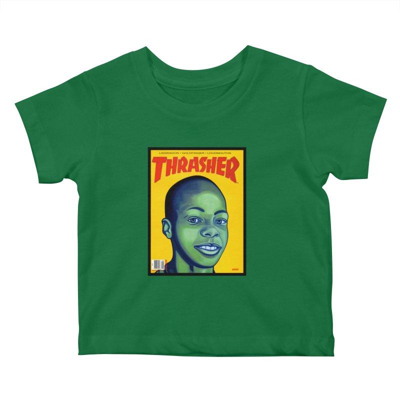 Thrasher Cover Kids Baby T-Shirt by GomezBueno's Artist Shop