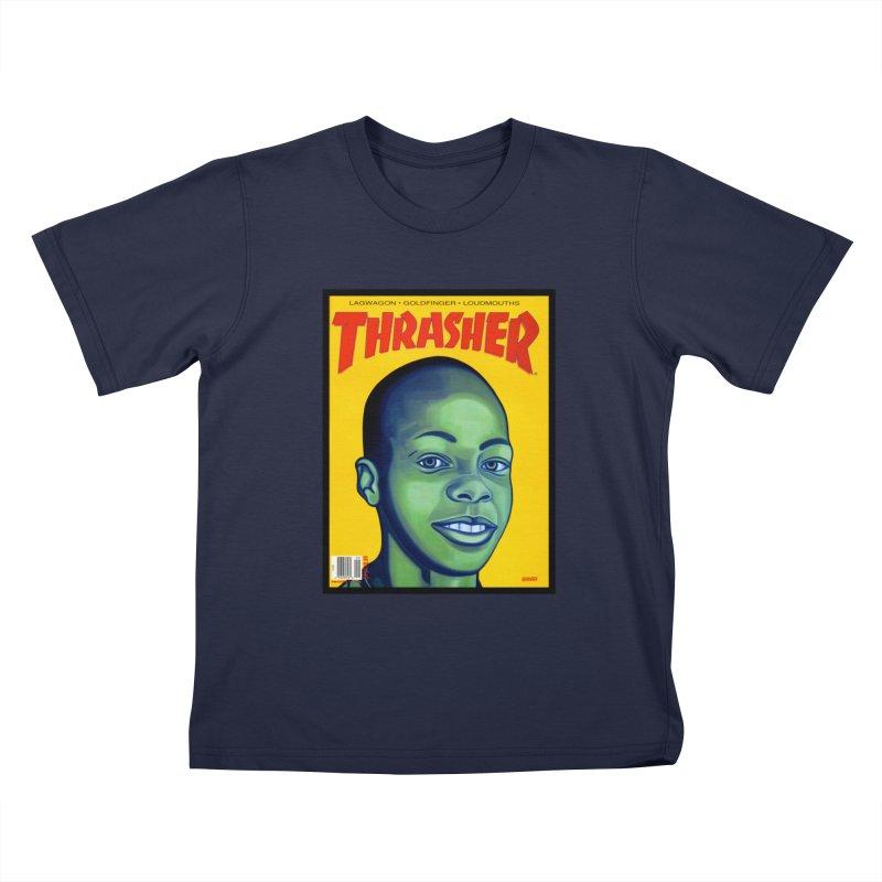Thrasher Cover Kids T-Shirt by GomezBueno's Artist Shop