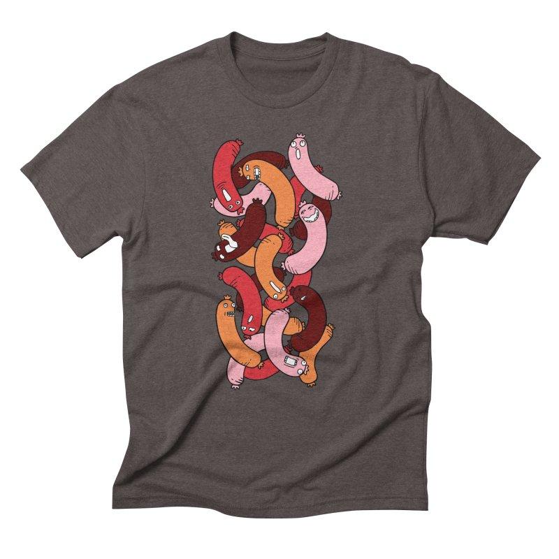 Insane Sausage Men's Triblend T-Shirt by gominam's Artist Shop