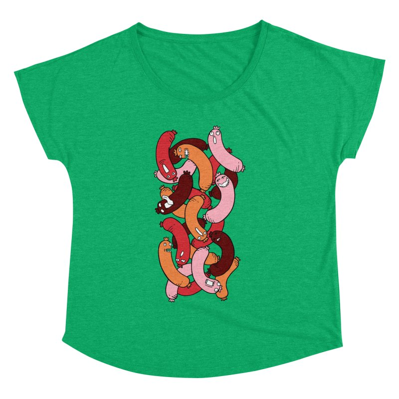 Insane Sausage Women's Dolman Scoop Neck by gominam's Artist Shop