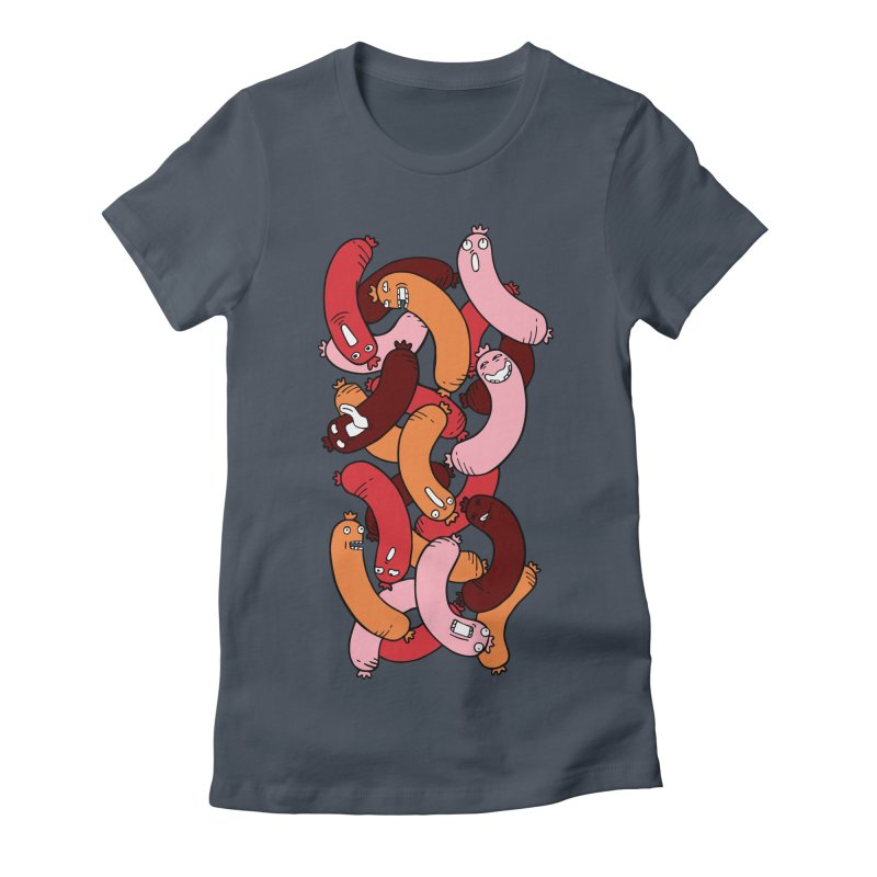 Insane Sausage Women's Fitted T-Shirt by gominam's Artist Shop