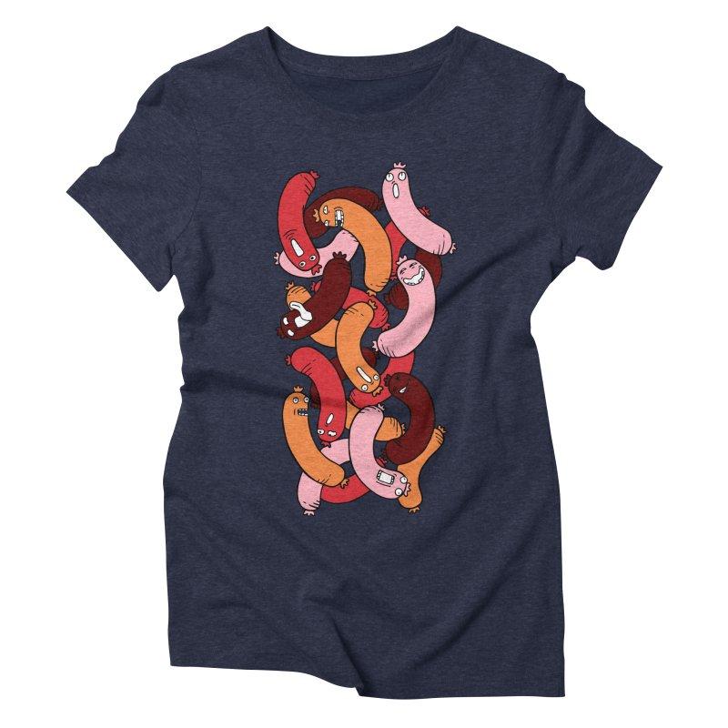 Insane Sausage Women's Triblend T-shirt by gominam's Artist Shop