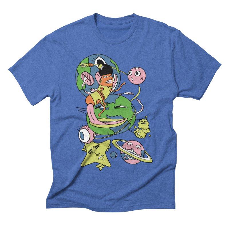 Cosmic Voyage Men's Triblend T-shirt by gominam's Artist Shop