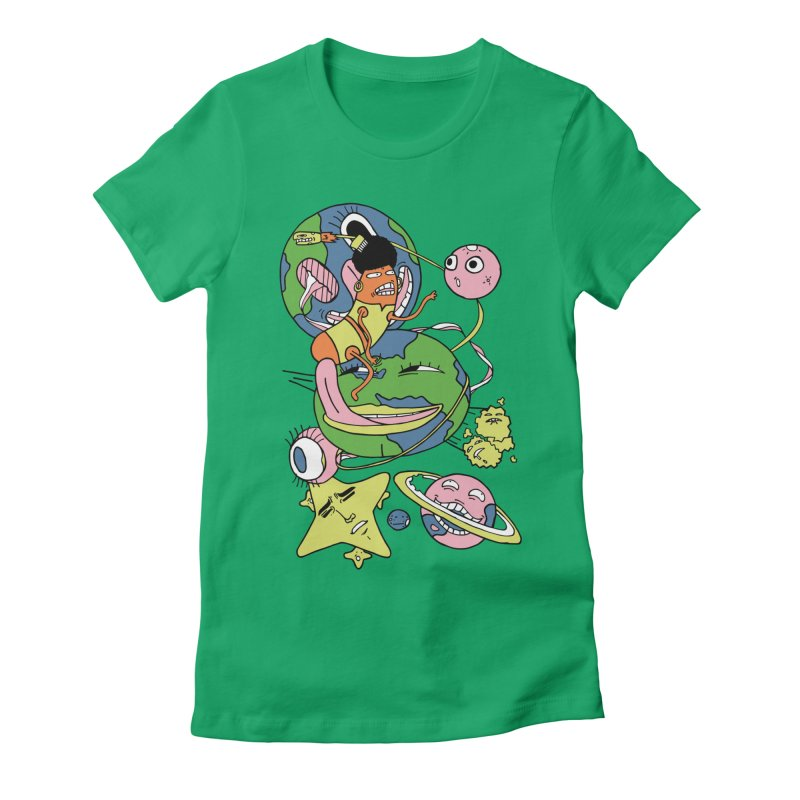 Cosmic Voyage Women's Fitted T-Shirt by gominam's Artist Shop