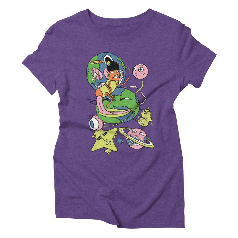Cosmic Voyage Women's Triblend T-shirt by gominam's Artist Shop