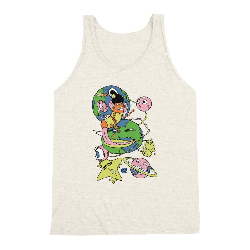 Cosmic Voyage Men's Triblend Tank by gominam's Artist Shop