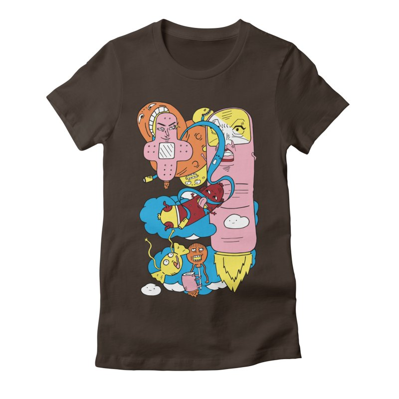 Astral Travel Women's Fitted T-Shirt by gominam's Artist Shop