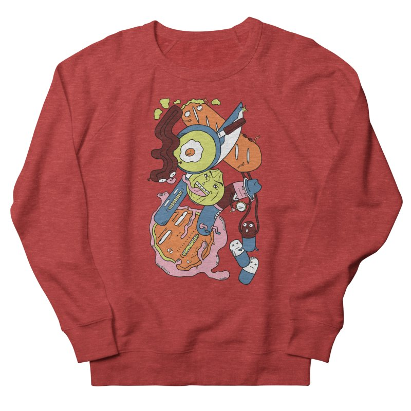 Gastronomic Tour Women's French Terry Sweatshirt by gominam's Artist Shop