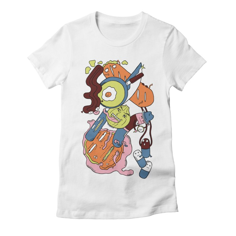 Gastronomic Tour Women's Fitted T-Shirt by gominam's Artist Shop