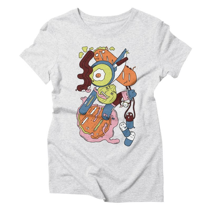 Gastronomic Tour Women's Triblend T-Shirt by gominam's Artist Shop