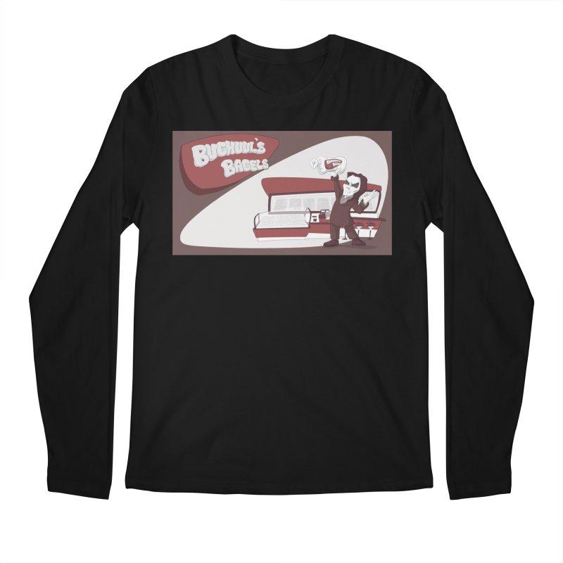 Bughuul's Bagels Men's Regular Longsleeve T-Shirt by goodbadflicks's Artist Shop
