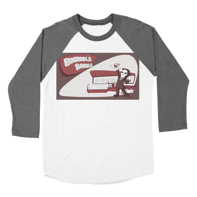 Bughuul's Bagels Women's Baseball Triblend Longsleeve T-Shirt by Good Bad Flicks