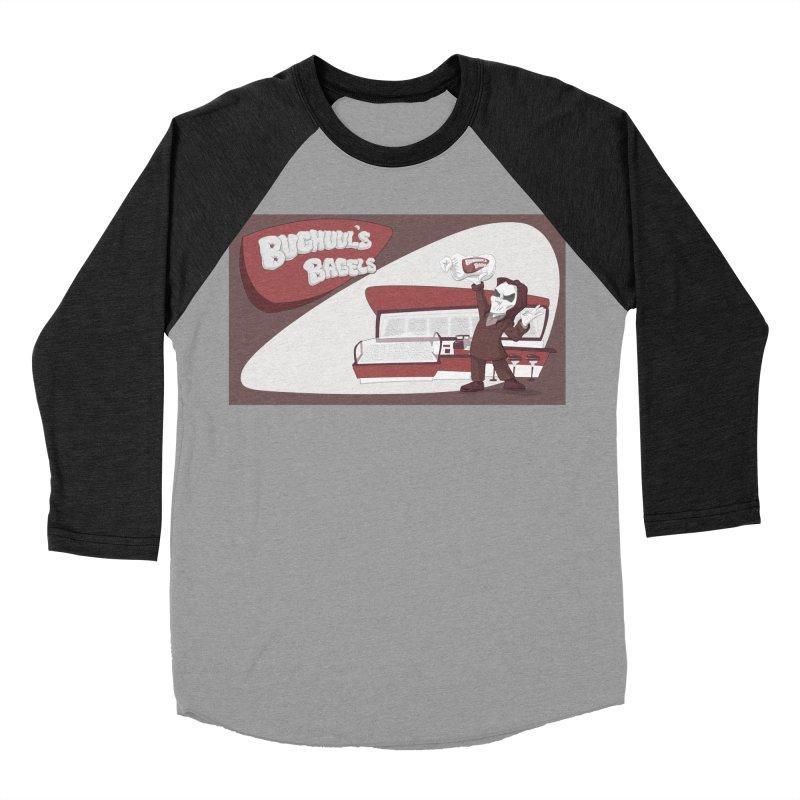 Bughuul's Bagels Men's Baseball Triblend Longsleeve T-Shirt by goodbadflicks's Artist Shop