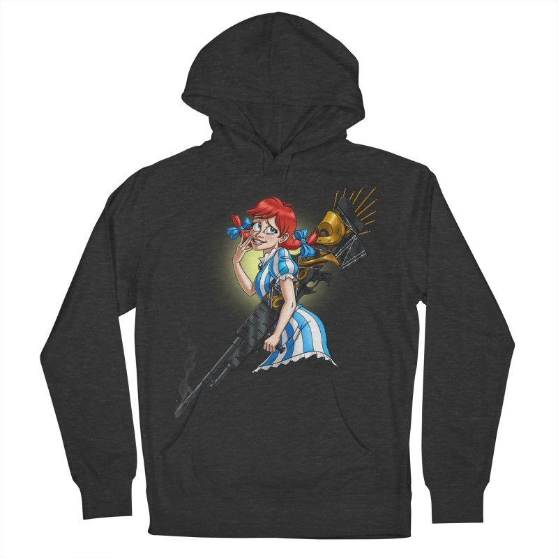 Burger Witch Women's French Terry Pullover Hoody by Good Bad Flicks