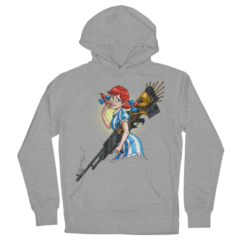 Burger Witch Women's French Terry Pullover Hoody by goodbadflicks's Artist Shop