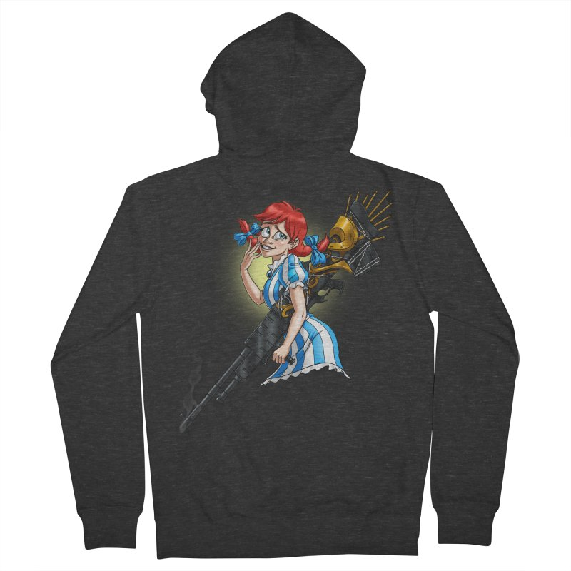 Burger Witch Men's French Terry Zip-Up Hoody by Good Bad Flicks