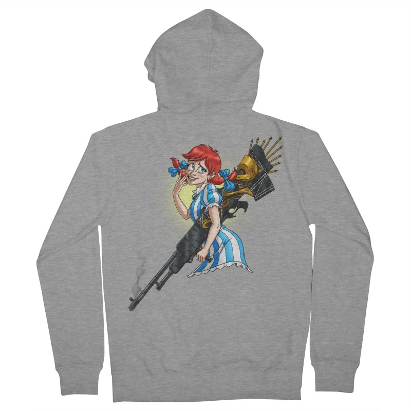 Burger Witch Men's French Terry Zip-Up Hoody by goodbadflicks's Artist Shop