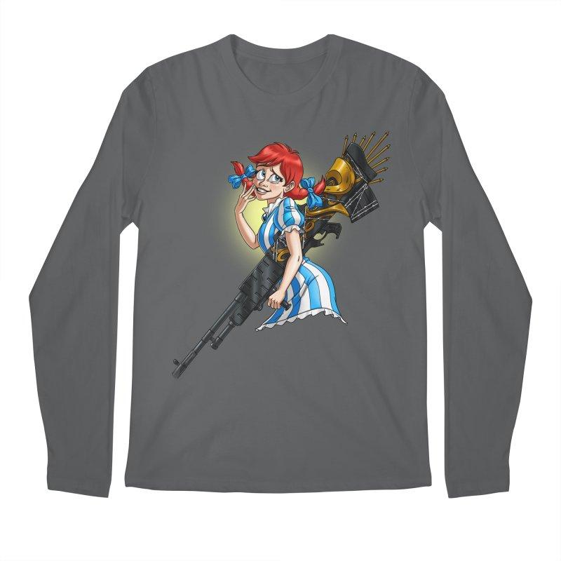 Burger Witch Men's Regular Longsleeve T-Shirt by Good Bad Flicks