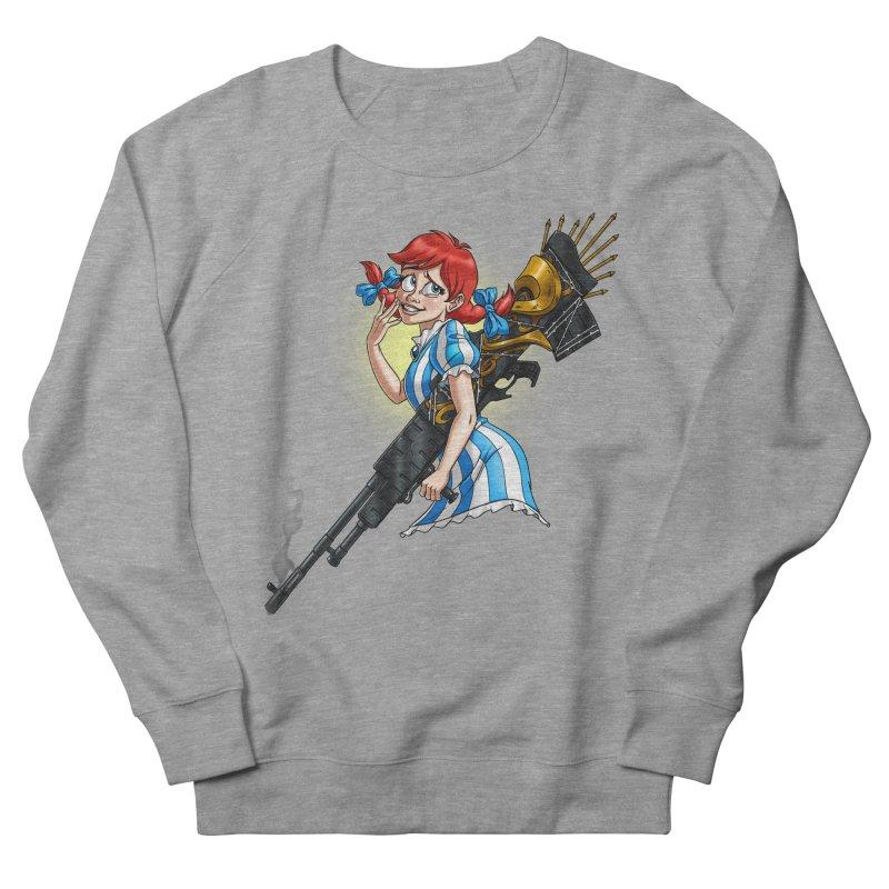 Burger Witch Men's French Terry Sweatshirt by goodbadflicks's Artist Shop