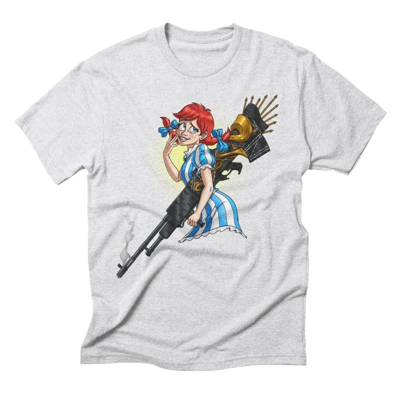 Burger Witch Men's Triblend T-Shirt by goodbadflicks's Artist Shop