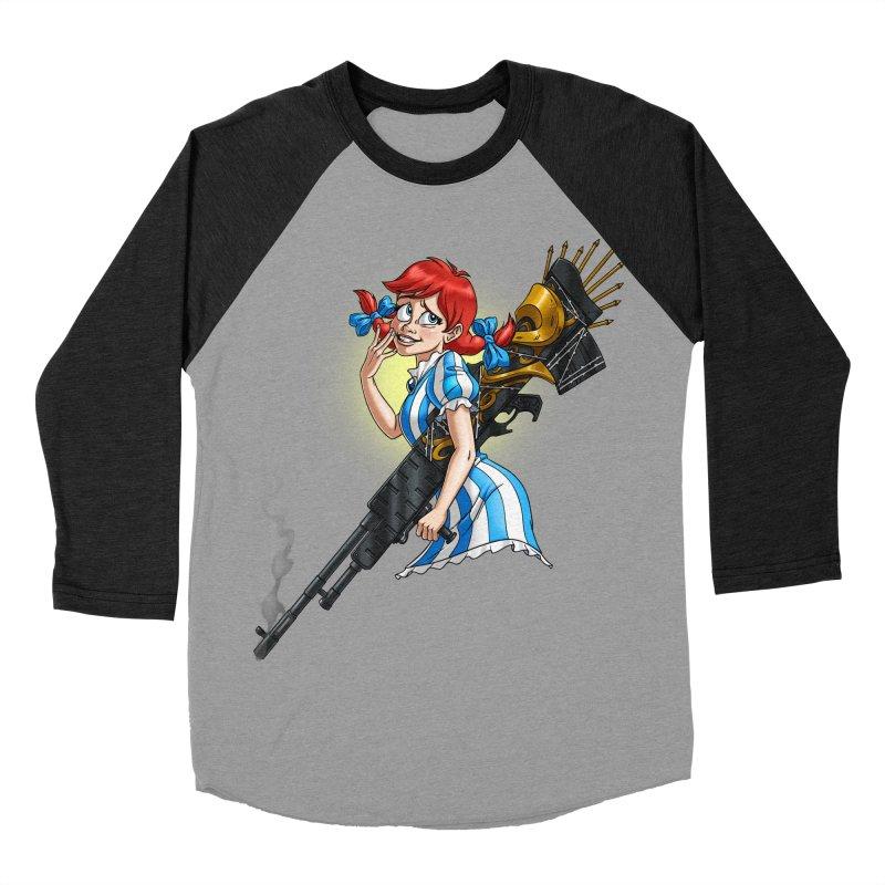 Burger Witch Women's Baseball Triblend Longsleeve T-Shirt by goodbadflicks's Artist Shop