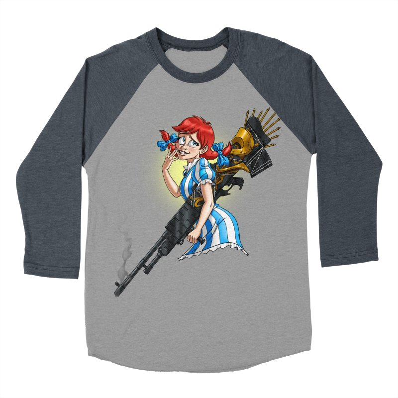 Burger Witch Women's Baseball Triblend Longsleeve T-Shirt by Good Bad Flicks