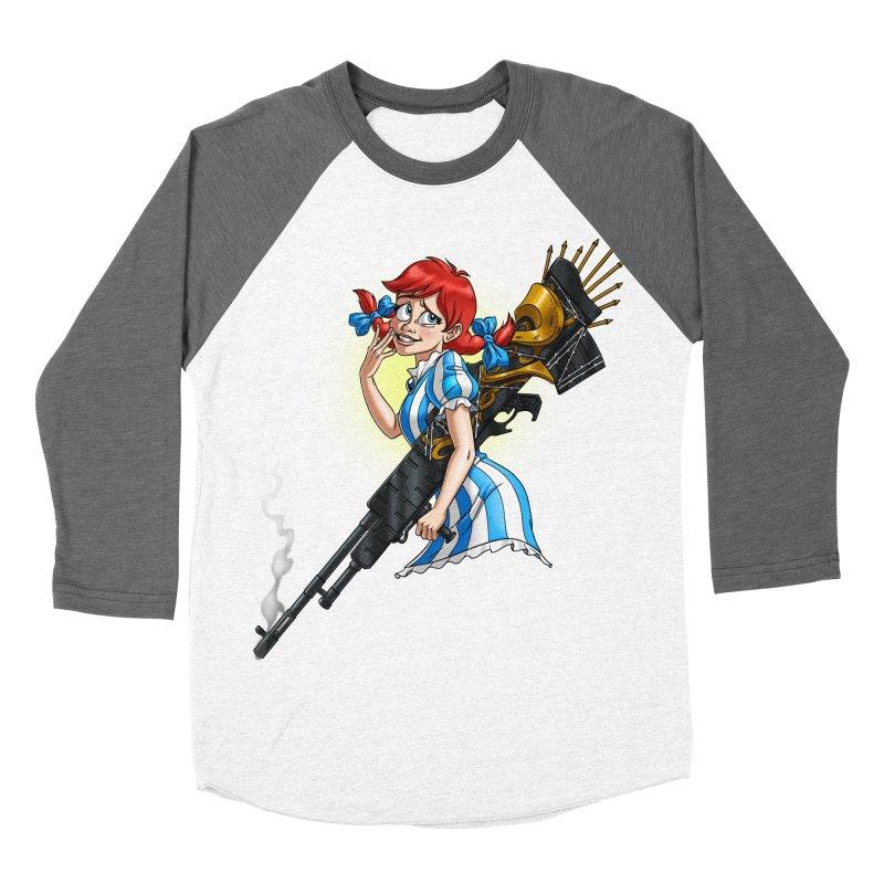 Burger Witch Men's Baseball Triblend Longsleeve T-Shirt by Good Bad Flicks