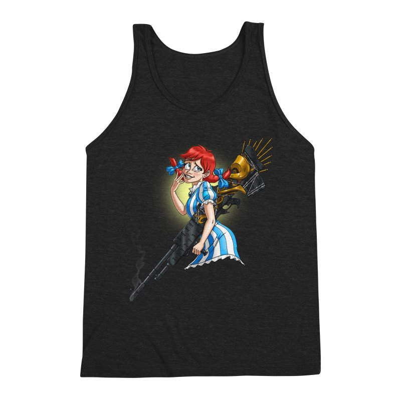 Burger Witch Men's Triblend Tank by Good Bad Flicks