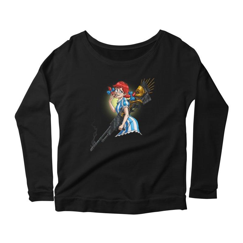 Burger Witch Women's Scoop Neck Longsleeve T-Shirt by Good Bad Flicks