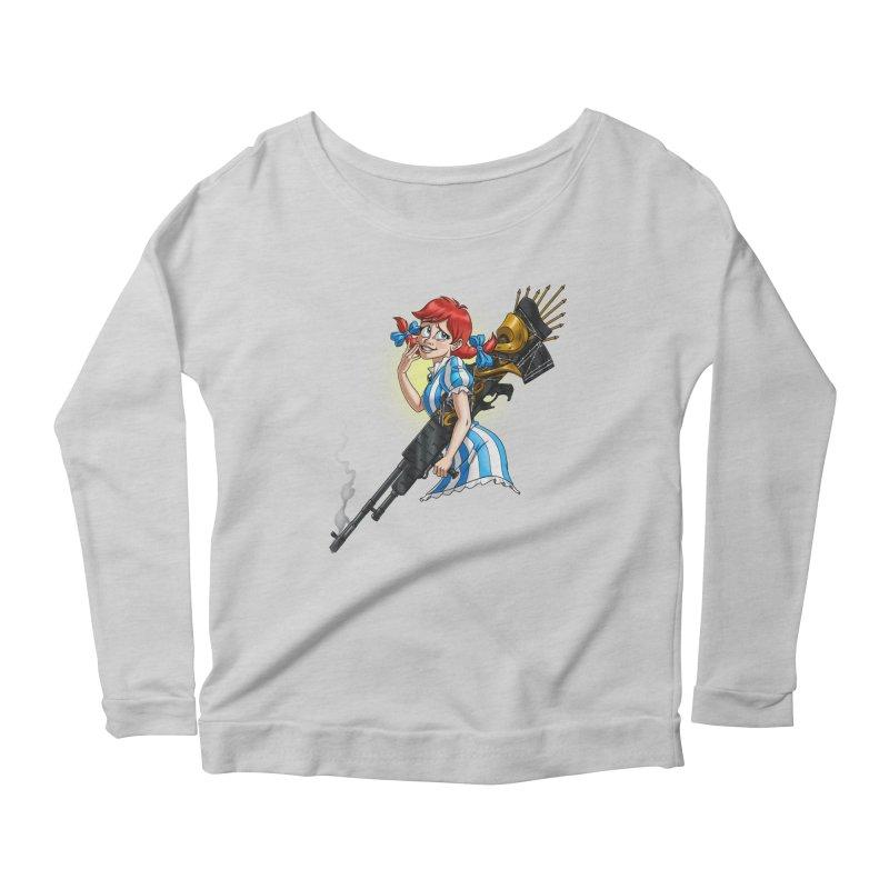 Burger Witch Women's Scoop Neck Longsleeve T-Shirt by goodbadflicks's Artist Shop