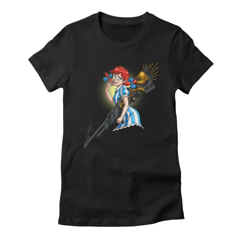 Burger Witch Women's Fitted T-Shirt by Good Bad Flicks